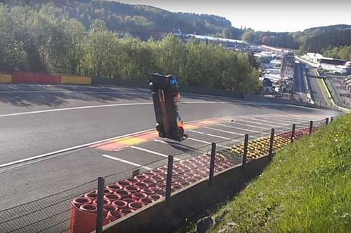Footage emerges of Isaakyan's terrifying Spa crash