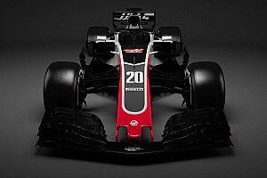 Slide view: Haas F1's 2018 car v 2017 version
