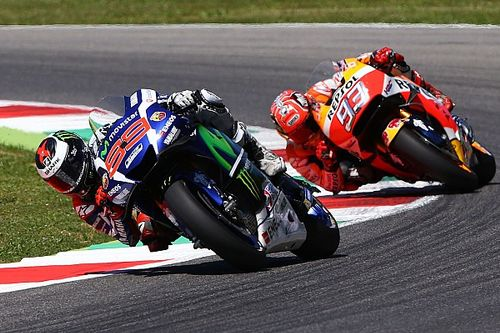Lorenzo thought he had lost to Marquez exiting final corner