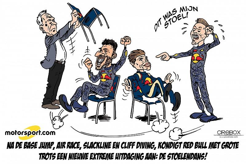 Cartoon van Cirebox - Red Bull's nieuwe extreme sport: de stoelendans!