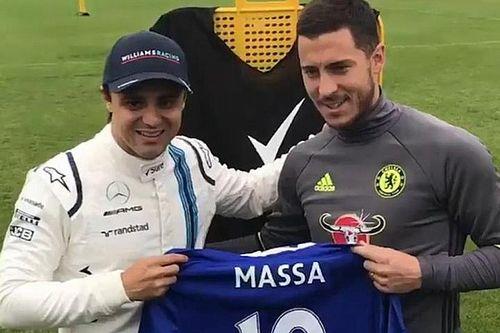 VIDEO: Felipe Massa y Eden Hazard compiten en Inglaterra