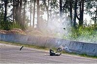 Piloto sofre forte acidente em corrida de moto na Ucrânia