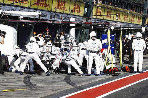 El pitstop de Williams con los nuevos Pirelli (2.35s), más rápido que en 2016