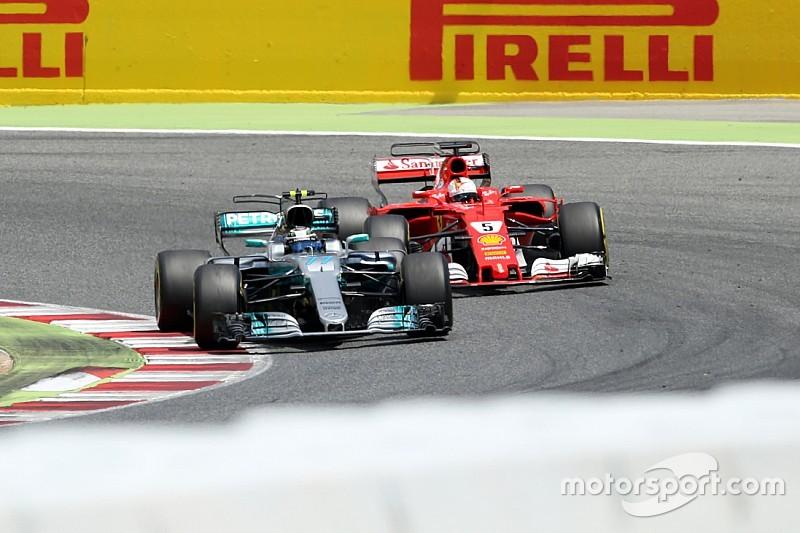 """Vettel: """"Il blocco di Bottas mi ha fatto perdere un sacco di tempo"""""""