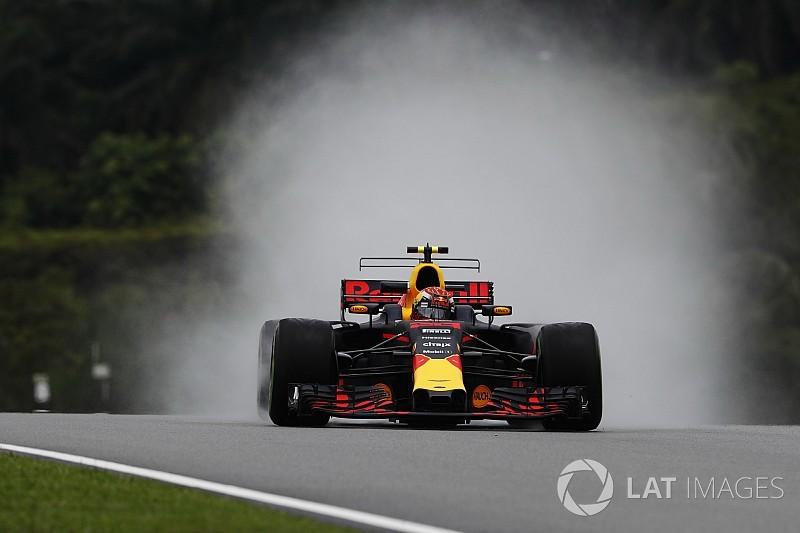 Sepang, Libere 1: Verstappen maestro dell'acqua con la Red Bull