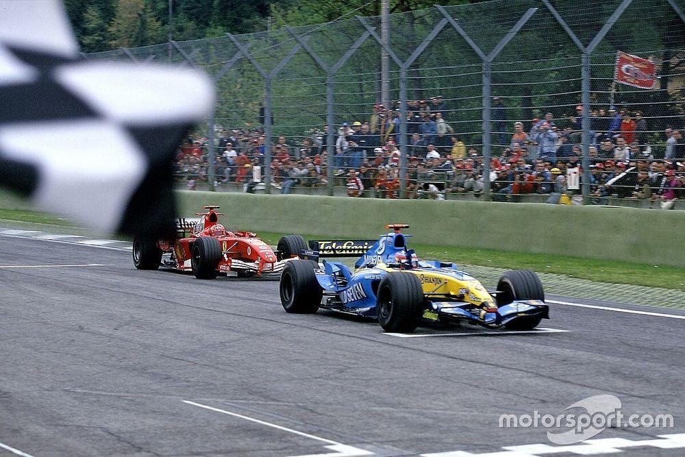 F1: Há 16 anos, Alonso segurava Schumacher em corrida histórica em Ímola
