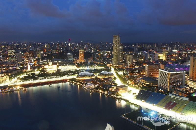 Rondje Marina Bay Circuit in Singapore twee meter ingekort