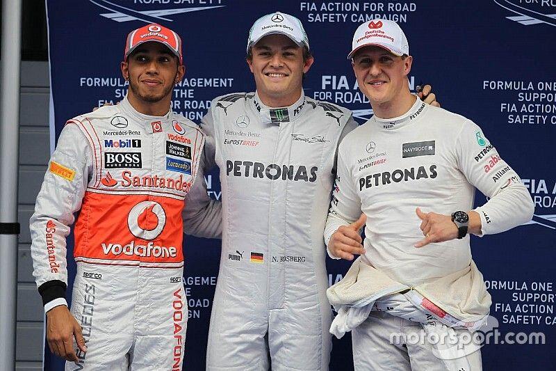 Росберг: Шумахер много работал, а у Хэмилтона талант