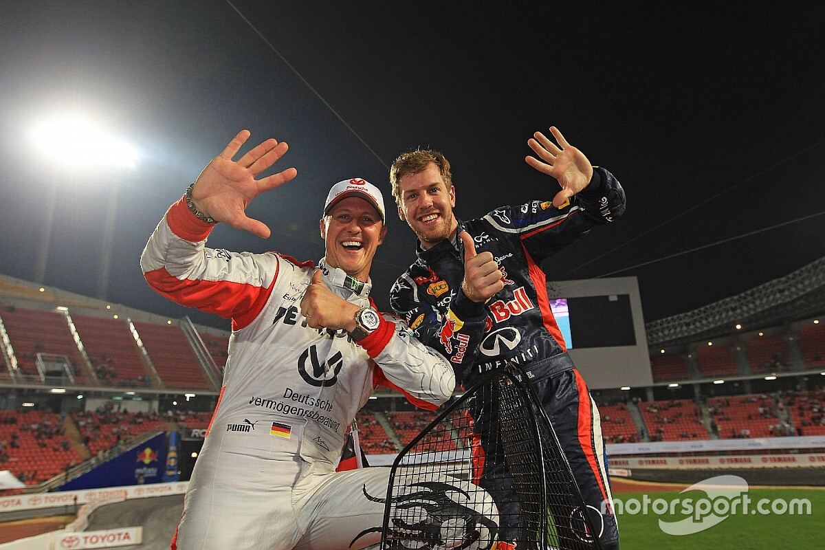 Vettel: Schumacher the best driver despite Hamilton records