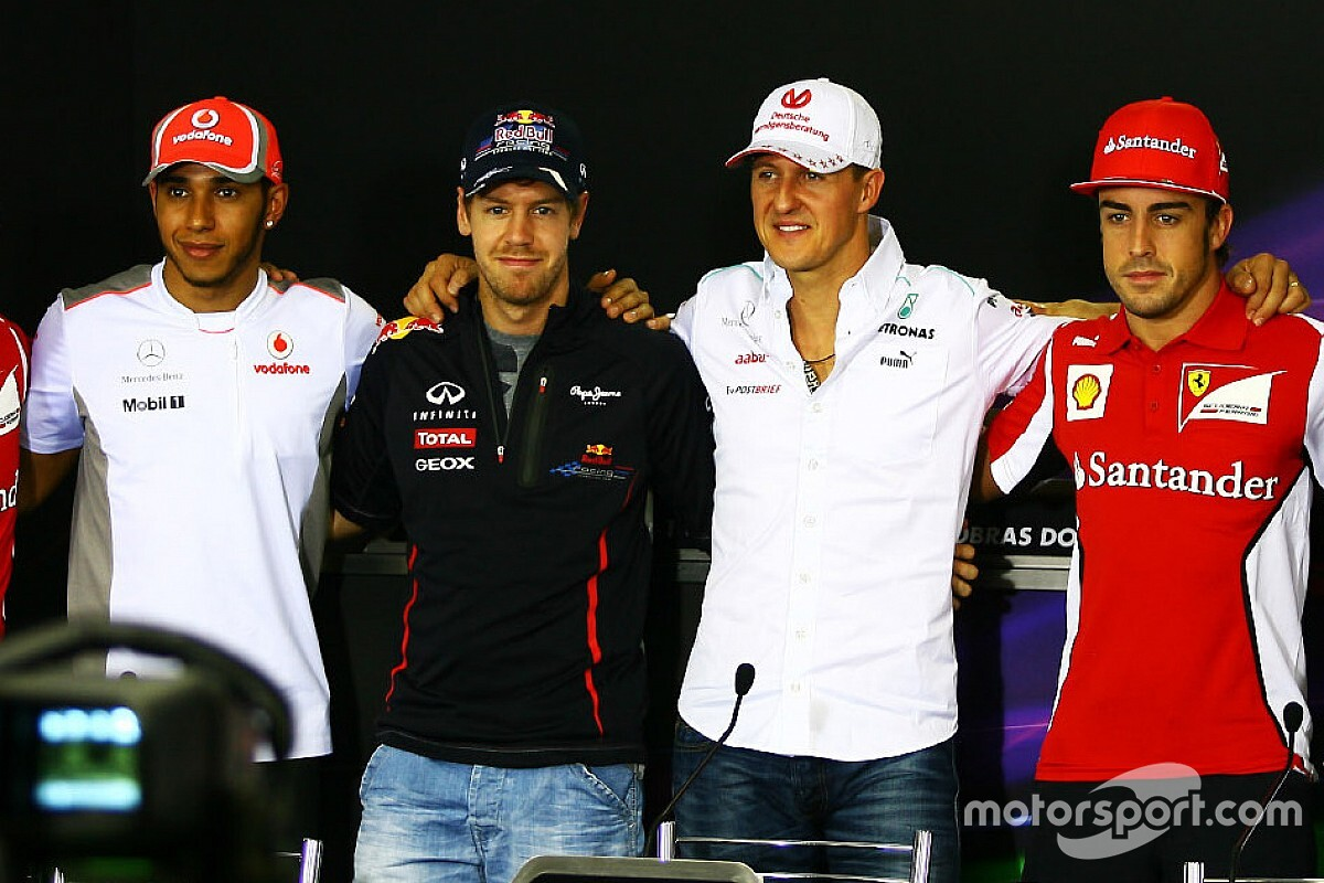 Alonso é taxativo sobre Hamilton vs Schumacher e 'se compara' a Vettel