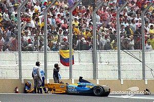 Los peores accidentes de Fernando Alonso en Fórmula 1, en fotos