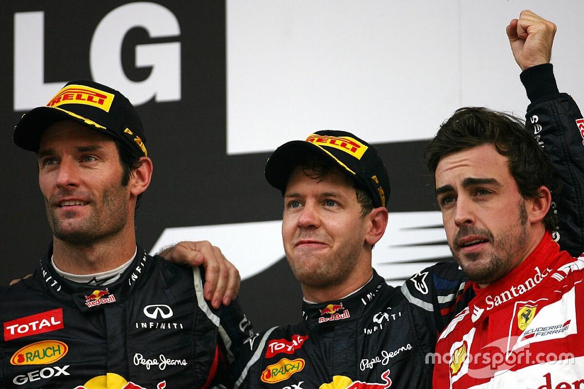 Ferrari ha agotado a Vettel, según Webber