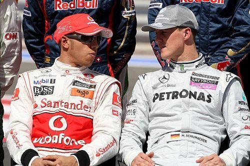 Vídeo: Schumacher profetizó que Hamilton podía alcanzarle en F1... ¡en 2008!