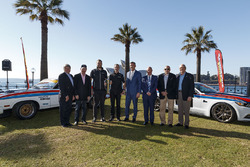 Allan Moffat, Jim Richards, Colin Bond, Fred Gibson, Will Davison, Tekno Autosports Holden, Jonathon Webb, Tekno Autosports Holden, Supercars CEO James Warburton