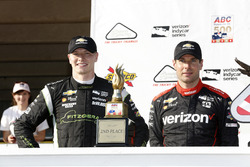 Podium: winner Will Power, Team Penske Chevrolet, second place Josef Newgarden, Team Penske Chevrolet