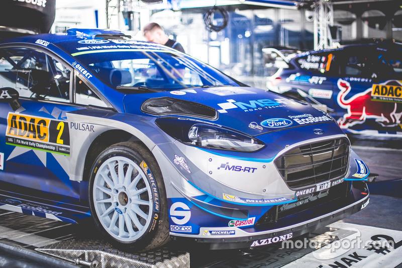 El coche de Ott Tänak, Martin Järveoja, Ford Fiesta WRC, M-Sport