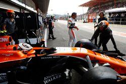Стоффель Вандорн, McLaren MCL32, и Фернандо Алонсо