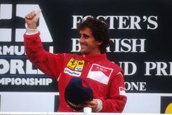 Podium: race winner Alain Prost, Ferrari