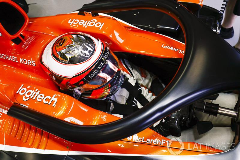 Stoffel Vandoorne, McLaren con el Halo