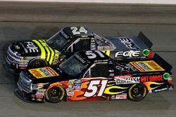 Myatt Snider, Kyle Busch Motorsports Toyota and Justin Haley, GMS Racing Chevrolet