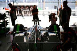 The car of Romain Grosjean, Haas F1 Team VF-17