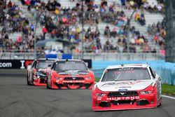 Brad Keselowski, Team Penske Ford, Joey Logano, Team Penske Ford, Kyle Busch, Joe Gibbs Racing Toyot
