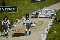 L'incidente di Quentin Gilbert, Renaud Jamoul, Skoda Fabia R5