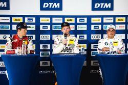 Conferencia de prensa: Mattias Ekström, Audi Sport Team Abt Sportsline, Audi A5 DTM, Maro Engel, Mercedes-AMG Team HWA, Mercedes-AMG C63 DTM, Bruno Spengler, BMW Team RBM, BMW M4 DTM