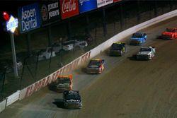 Noah Gragson, Kyle Busch Motorsports Toyota and Chris Windom, MB Motorsports Chevrolet