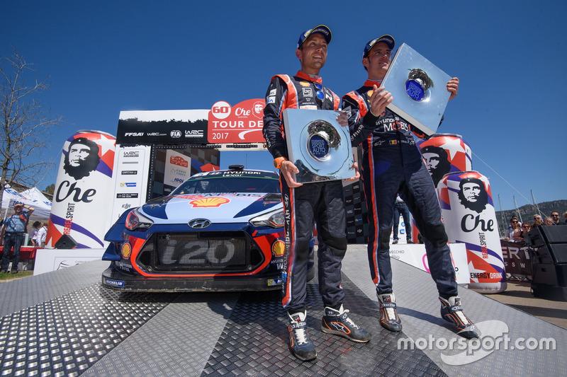 I vincitori Thierry Neuville, Nicolas Gilsoul, Hyundai i20 Coupe WRC, Hyundai Motorsport