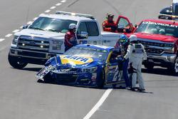 Chase Elliott, Hendrick Motorsports Chevrolet, kaza