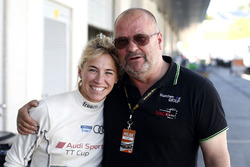 #50 YACO Racing, Audi R8 LMS: Rahel Frey und Teamchef Uwe Geipel
