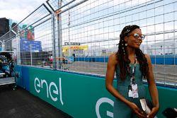 Actress Naomie Harris on the grid