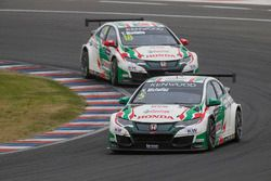 Norbert Michelisz, Honda Racing Team JAS, Tiago Monteiro, Honda Racing Team JAS, Honda Civic WTCC