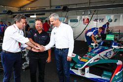 Alejandro Agag, Formula E CEO, Michael Andretti, Jens Marquardt, BMW Motorsport Director