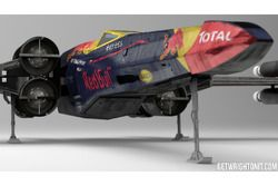 Star Wars X-Wing met Red Bull Racing livery
