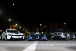 The BMW i8 safety-car, Spark DS Virgin and Jaguar I-Pace