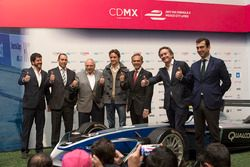 Horacio de la Vega, direttore di Indeporte, José Abed, Vicepresidente FIA Messico,Esteban Gutiérrez