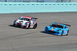 #21 MP2A Ginetta G55 driven by Elias Azevedo & Chelo La Manna of Ginetta USA, #21 MP2A Porsche GT3 C