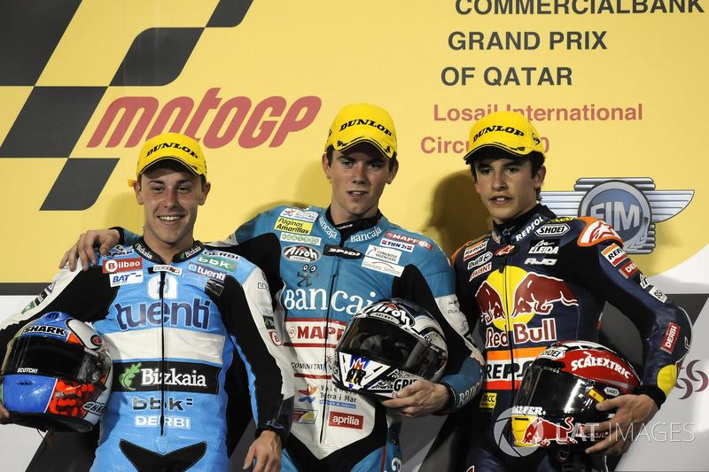 Podio: 1º Nicolás Terol, 2º Efrén Vázquez, 3º Marc Marquez
