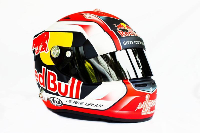 Casque de Pierre Gasly, Scuderia Toro Rosso