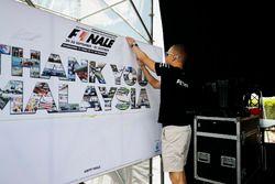 Valtteri Bottas, Mercedes AMG F1, en el escenario de la F1