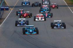 Michael Schumacher, Benetton B194 Ford, Damon Hill ve Nigel Mansell, Williams FW16B Renault
