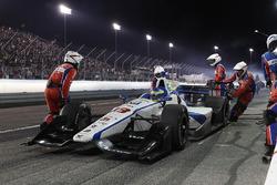Sébastien Bourdais, Dale Coyne Racing Honda, maakt een pitstop
