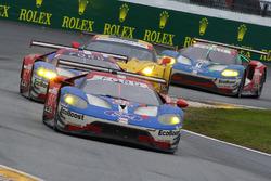 #66 Ford Performance Chip Ganassi Racing Ford GT: Joey Hand, Dirk Müller, Sébastien Bourdais, #67 Fo