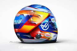Helmet of Romain Grosjean, Haas F1 Team