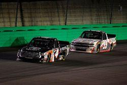 Christopher Bell, Kyle Busch Motorsports Toyota leads Brandon Jones, CHIGO Chevrolet Silverado
