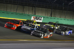 Grant Enfinger, ThorSport Racing Toyota, Johnny Sauter, GMS Racing Chevrolet, and Ben Rhodes, ThorSp