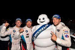 GTLM winners Bill Auberlen, Alexander Sims, Kuno Wittmer, BMW Team RLL