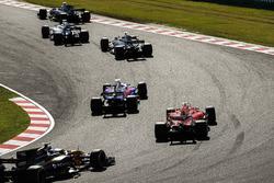 Pierre Gasly, Scuderia Toro Rosso STR12, Sebastian Vettel, Ferrari SF70H, Jolyon Palmer, Renault Spo